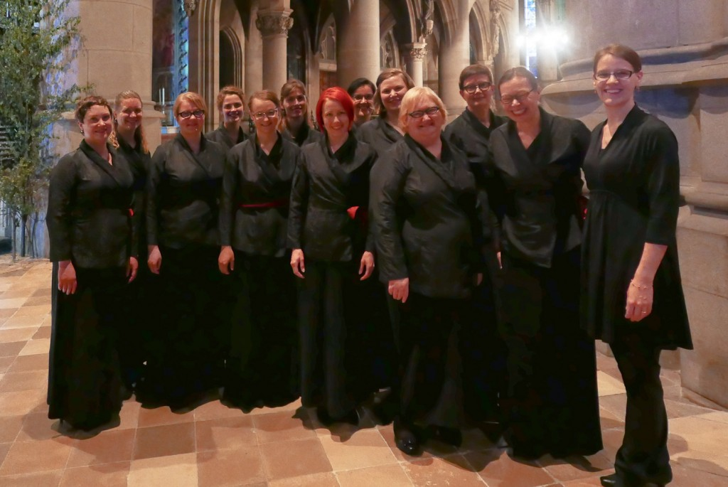 Kaari-ensemble after the concert in Mariendom, Linz. Photo: Markku Hynninen.